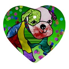Pug Heart Ornament
