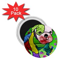 Pug 1 75  Button Magnet (10 Pack)