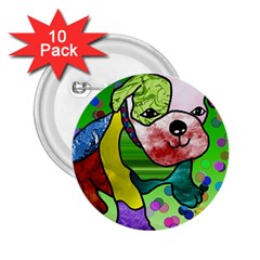 Pug 2 25  Button (10 Pack)