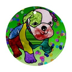 Pug Round Ornament (two Sides)