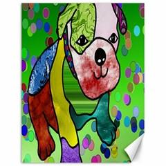 Pug Canvas 12  x 16  (Unframed)