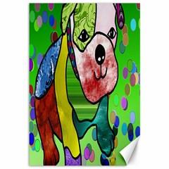 Pug Canvas 12  x 18  (Unframed)