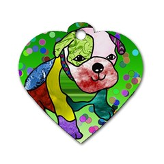 Pug Dog Tag Heart (two Sided)
