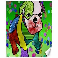 Pug Canvas 11  x 14  (Unframed)
