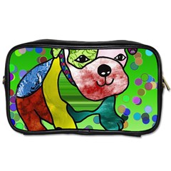 Pug Travel Toiletry Bag (two Sides)