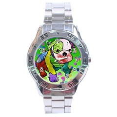 Pug Stainless Steel Watch