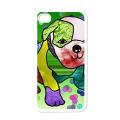 Pug Apple iPhone 4 Case (White)