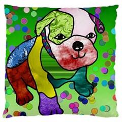 Pug Large Cushion Case (Two Sided)