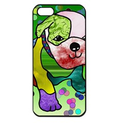 Pug Apple iPhone 5 Seamless Case (Black)