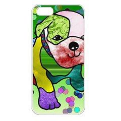 Pug Apple iPhone 5 Seamless Case (White)