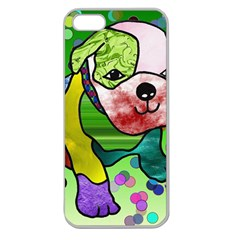 Pug Apple Seamless iPhone 5 Case (Clear)
