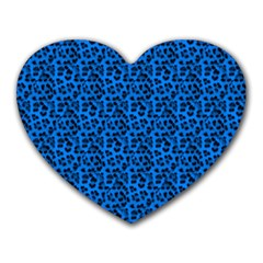 Leopard Print Mouse Pad (Heart)