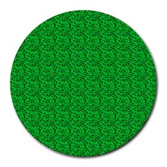 Leopard Print 8  Mouse Pad (Round)