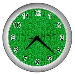 Leopard Print Wall Clock (Silver)