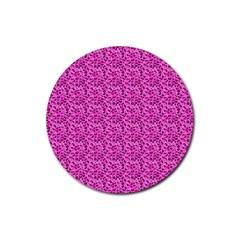 Leopard Print Drink Coaster (Round)