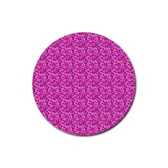Leopard Print Drink Coasters 4 Pack (Round)