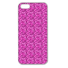 Leopard Print Apple Seamless iPhone 5 Case (Clear)