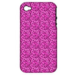Leopard Print Apple iPhone 4/4S Hardshell Case (PC+Silicone)