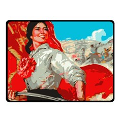 Chinesse Communist Pary Propaganda  Fleece Blanket (small)