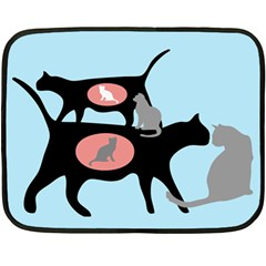 Feral Cat Colony Mini Fleece Blanket (two Sided)