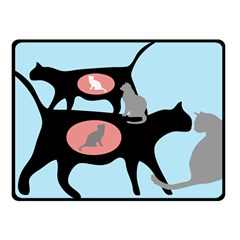 FERAL CAT COLONY Fleece Blanket (Small)