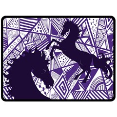 Year Of The Horse Fleece Blanket (extra Large)