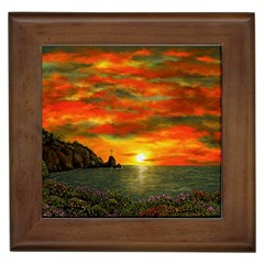 Alyssa s Sunset by Ave Hurley ArtRevu - Framed Tile