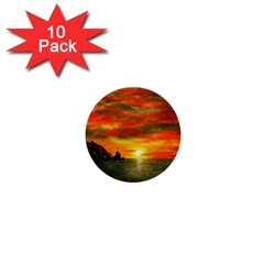 Alyssa s Sunset By Ave Hurley Artrevu   1  Mini Button (10 Pack)