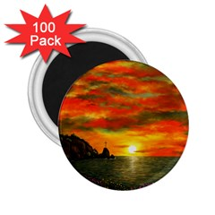 Alyssa s Sunset By Ave Hurley Artrevu   2 25  Magnet (100 Pack)