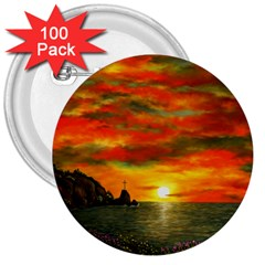 Alyssa s Sunset by Ave Hurley ArtRevu - 3  Button (100 pack)