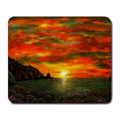 Alyssa s Sunset by Ave Hurley ArtRevu - Large Mousepad