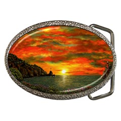 Alyssa s Sunset By Ave Hurley Artrevu   Belt Buckle