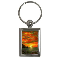 Alyssa s Sunset by Ave Hurley ArtRevu - Key Chain (Rectangle)