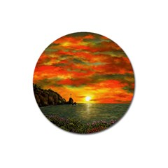 Alyssa s Sunset by Ave Hurley ArtRevu - Magnet 3  (Round)