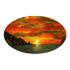 Alyssa s Sunset by Ave Hurley ArtRevu - Magnet (Oval)