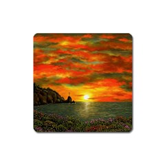 Alyssa s Sunset by Ave Hurley ArtRevu - Magnet (Square)