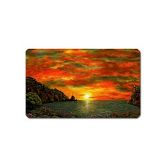 Alyssa s Sunset by Ave Hurley ArtRevu - Magnet (Name Card)