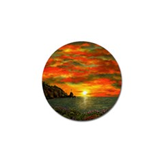 Alyssa s Sunset By Ave Hurley Artrevu   Golf Ball Marker (10 Pack)