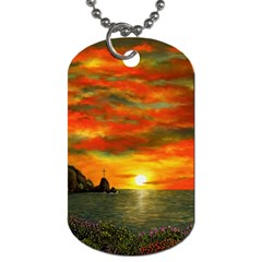 Alyssa s Sunset by Ave Hurley ArtRevu - Dog Tag (Two Sides)