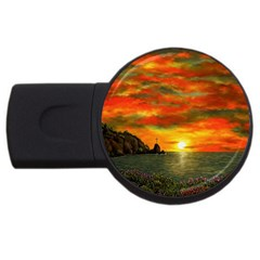 Alyssa s Sunset by Ave Hurley ArtRevu - USB Flash Drive Round (1 GB)