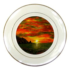 Alyssa s Sunset by Ave Hurley ArtRevu - Porcelain Plate