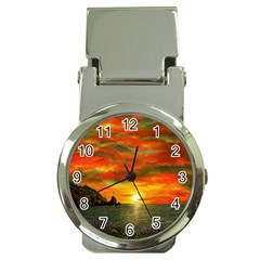 Alyssa s Sunset by Ave Hurley ArtRevu - Money Clip Watch