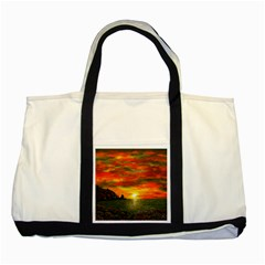 Alyssa s Sunset by Ave Hurley ArtRevu - Two Tone Tote Bag