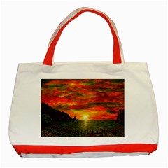 Alyssa s Sunset by Ave Hurley ArtRevu - Classic Tote Bag (Red)
