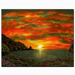 Alyssa s Sunset by Ave Hurley ArtRevu - Canvas 8  x 10