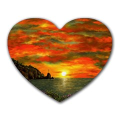Alyssa s Sunset by Ave Hurley ArtRevu - Heart Mousepad