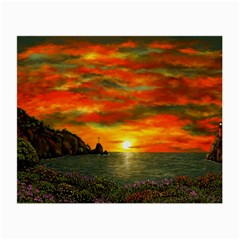 Alyssa s Sunset by Ave Hurley ArtRevu - Small Glasses Cloth (2 Sides)