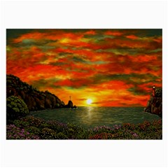 Alyssa s Sunset by Ave Hurley ArtRevu - Large Glasses Cloth (2 Sides)