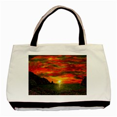 Alyssa s Sunset by Ave Hurley ArtRevu - Basic Tote Bag (Two Sides)