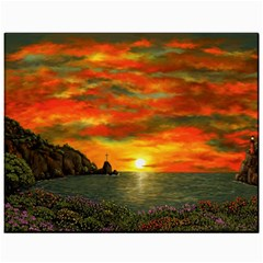 Alyssa s Sunset by Ave Hurley ArtRevu - Canvas 11  x 14